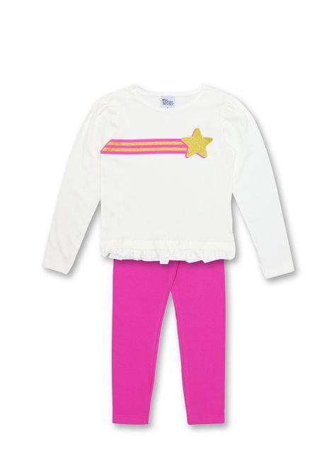 1 1064 conjunto infantil menina blusa em meia malha e legging de cotton bem vestir cjt