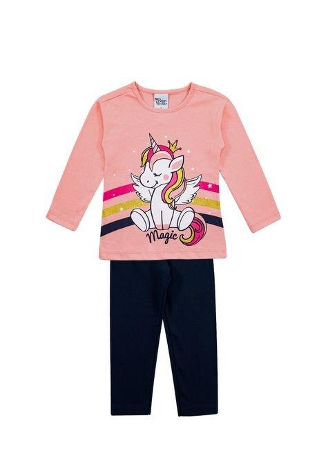 1 1074 conjunto meia malha e cotton infantil menina silk bem vestir cjt