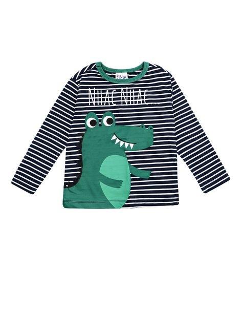 1 1089 camiseta manga longa bebe menino em meia malha e silk bem vestir