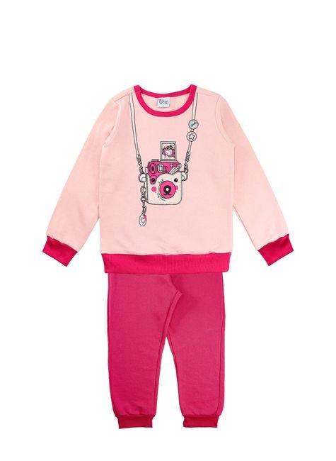 1 1240 conjunto infantil menina moletom e silk bem vestir