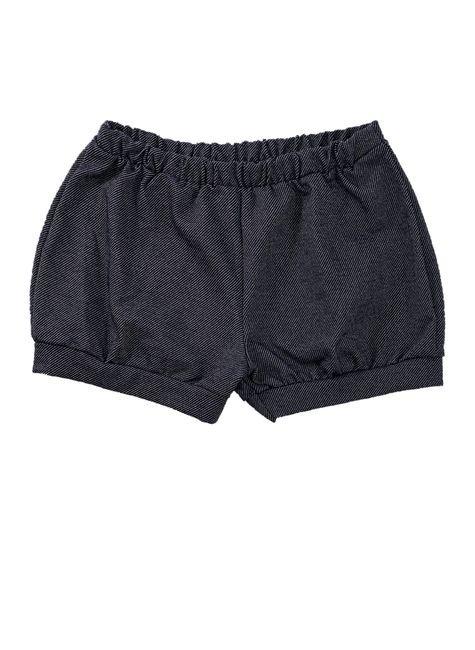 1 1625 short bebe menina em malha jeans bem vestir