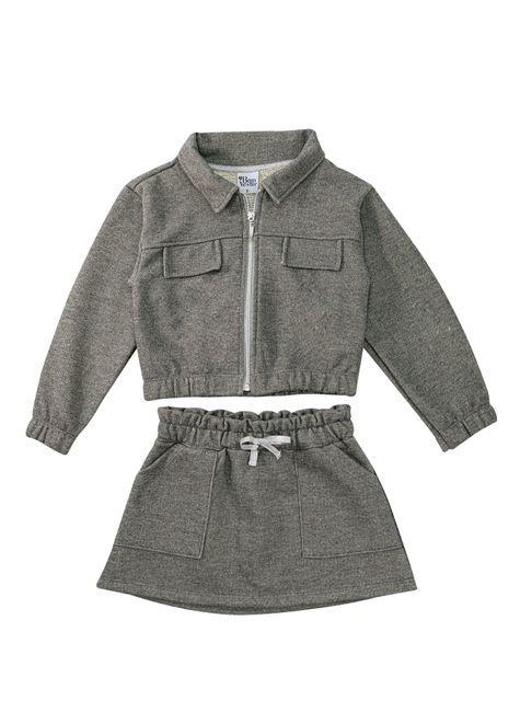 1 1636 conjunto infantil menina jaqueta saia em moletinho bem vestir