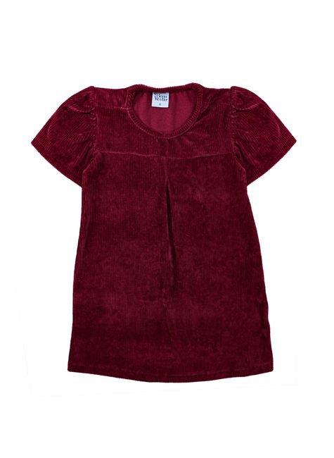 1 1403 vestido infantil menina de veludo cotele bem vestir