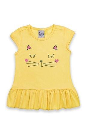 1 2107 blusa bebe menina em meia malha com babado bem vestir blusa